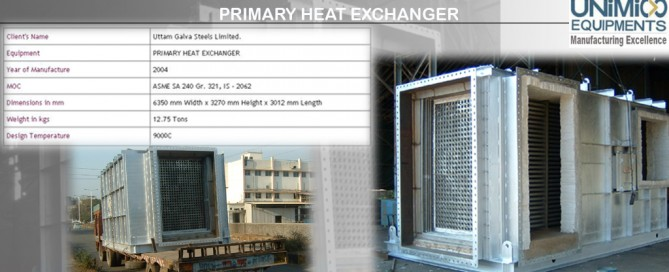 PRIMARY HEAT EXCHANGER