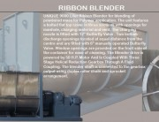 Ribbon Blender Model RB 9000