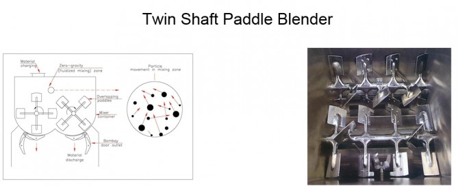 Twin Shaft Paddle Blender